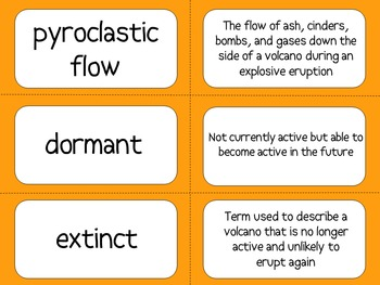 Volcanoes Flash Cards