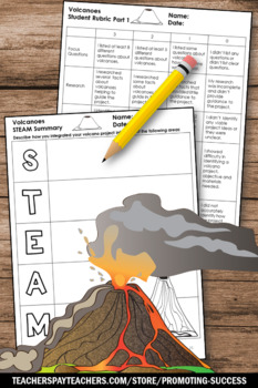 Volcanoes Project Based Learning Science Stem Activities STEAM Challenge