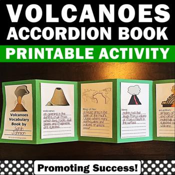 Volcano Activity, Science Interactive Notebook Volcanoes Accordion Book