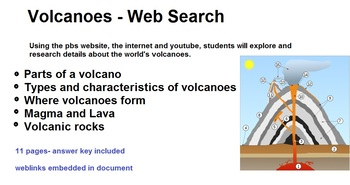 Volcanoes - Internet research interactive