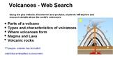 Volcanoes - Internet research interactive