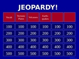 Volcanoes - Jeopardy Review Game
