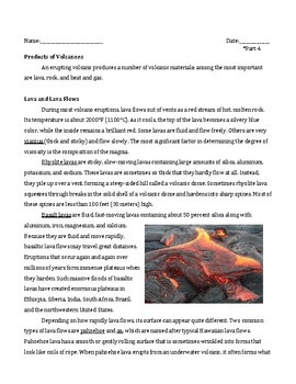 Volcanoes Jigsaw Activity-Middle School Science