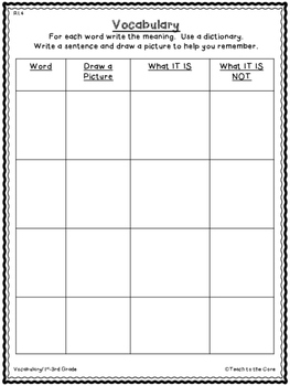 Volcanoes K-3 Vocabulary Cards, Graphic Organizers, and Tests