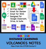 Volcanoes Notes Googles Doc - Distance Learning Friendly