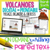 Volcanoes • Print or Digital Paired Text Passages & Writin