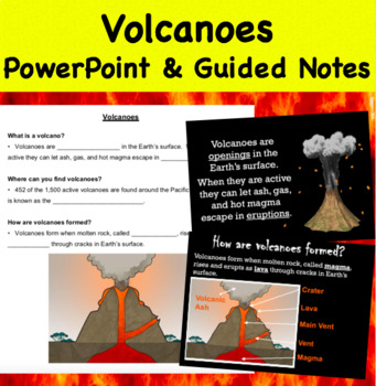 Volcanoes - PowerPoint & Guided Notes