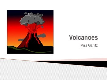 Volcanoes PowerPoint-- Includes Embedded Video--Handout and Tests Available