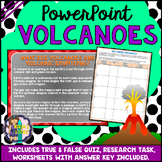 Volcanoes PowerPoint Natural Disaster (Quiz, Activity & Research Task Included)