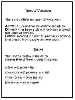 Science: Volcanoes