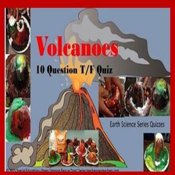 Volcanoes Quiz And Exploding Volcanoes Experiment SPED/OHI/ID/ODD/ESL