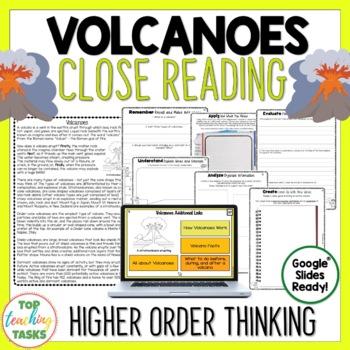 Volcano Reading Comprehension Teaching Resources Teachers Pay Teachers