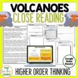 Volcanoes Reading Comprehension Passages and Questions