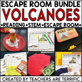 Volcanoes Reading and Escape Room Bundle