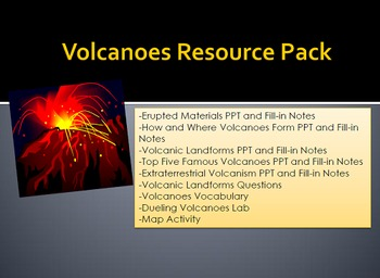 Volcanoes Resource Pack