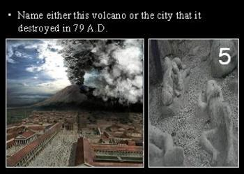 Volcanoes Quiz Game