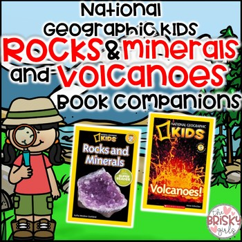 Volcanoes & Rocks & Minerals National Geographic Kids Student Flip Books BUNDLE