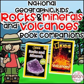 Volcanoes & Rocks & Minerals National Geographic Kids Flipbooks BUNDLE