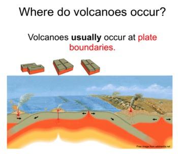 Volcanoes SMART notebook presentation