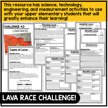 Volcanoes Unit STEM Challenges