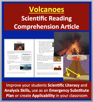 Volcanoes - Science Reading Article - Grades 5-7
