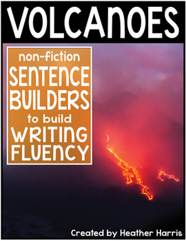 Volcanoes Sentence Builders