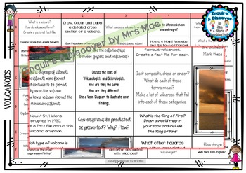 VOLCANOES RUBRIC - 24 Questions & Answers, Marking Checkli