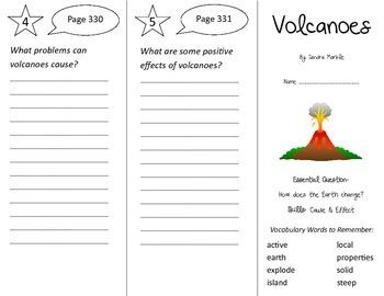 Volcanoes Trifold - Wonders 2nd Grade Unit 4 Week 2