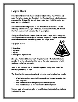 Volcanoes: Using the Volcano Model to Teach Science Process Skills