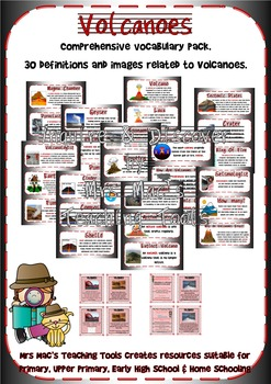 Volcanoes – Vocabulary Posters