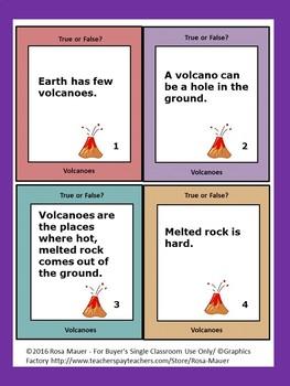 Volcanoes Task Cards