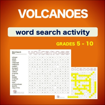Volcanoes * WordSearch * Vocabulary*