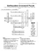 Volcanoes and Earthquakes Crossword Puzzle Set