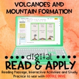 Volcanoes and Mountain Formation DIGITAL Read and Apply