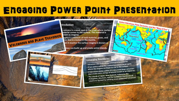 Volcanoes and Plate Tectonics No Prep Lesson with Power Point, Worksheet, Vocab