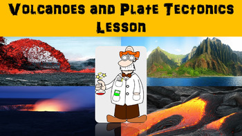 Volcanoes and Plate Tectonics No Prep Lesson with Power Po