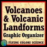 NGSS Volcanoes and Volcanic Landforms Graphic Organizer Worksheet Activity