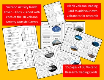 Volcanoes of the World: Sort, Classify & Research Activity Cards