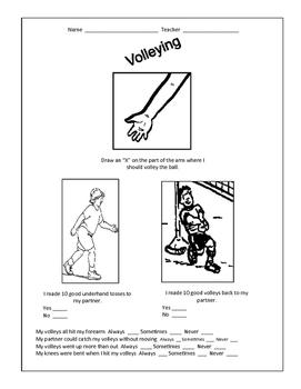 Volley worksheet