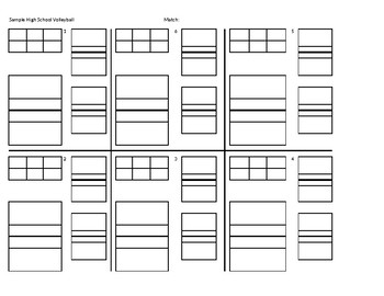 image relating to Volleyball Rotation Sheet Printable identified as Volleyball 6 Rotation Worksheet