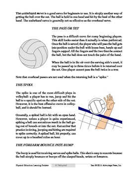 Volleyball: An Academic Learning Packet