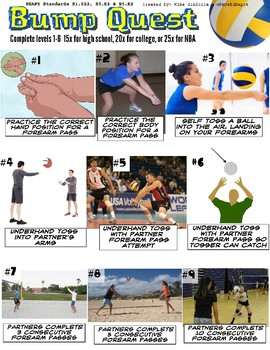 Volleyball Bump (Forearm Pass) Skill Quest for PE