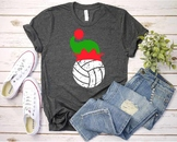 Volleyball Christmas Hat svg Elf sweater ball mom tackle merry Santa 1047s