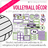 Volleyball Classroom Decor Pack