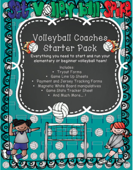 Volleyball Coach Starter Pack:Coaching Forms for Beginners or Elementary Coaches