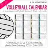 Volleyball Desk Calendar