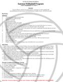 Volleyball Exit Interviews, Off Season/Summer work, Kids Camps