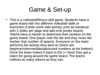 Volleyball Gameboard/Stations