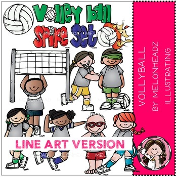Volleyball by Melonheadz LINE ART