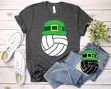Volleyball Leprechaun St. Patricks Day SVG Good Luck Shamrock Lucky Clover 1191S